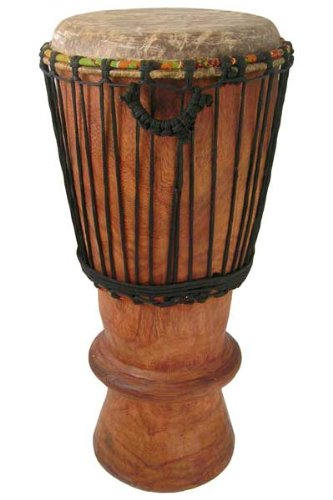 Hand-carved Bugarubu Drum From Africa - 11'' X 26'' Cow Skin Djembe Conga Mix by Africa Heartwood Project
