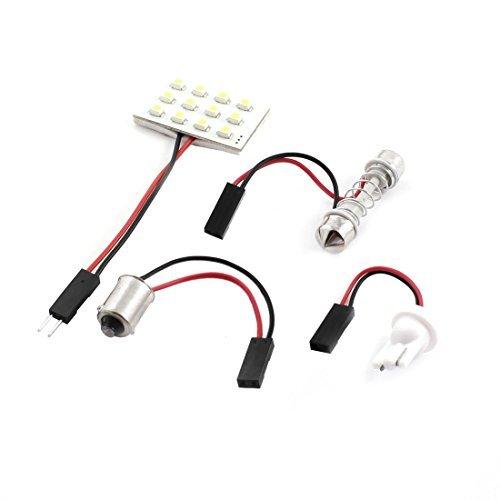 Voiture Véhicule Blanc 1210 SMD 12 LED Carte liseuse avec adaptateur T10