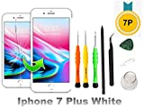 Compatible with iPhone 7 Plus Screen Replacement 5.5 inch (White), LCD Digitizer Touch Screen Assembly Set with 3D Touch, Free Repair Tools and Professional Replacement