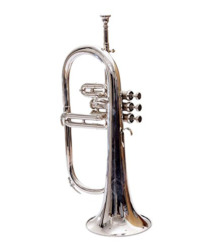 Bb Flat SILVER NICKLE Flugel Horn With Free Hard Case+Mouthpiece GVT 249 by SHREYAS (Image #2)