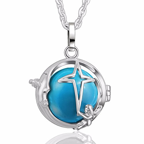 EUDORA Harmony Bola Moon Story Star Chime Pendant 30'' Necklace Baby Shower Pregnancy Gift Special from EUDORA
