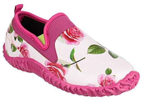 Cotswold girls Cotswold Ladies Backdoor High Def Print Waterproof Garden Shoe Pink Rose Rubber UK Size 6.5 (EU 40) by Cotswold