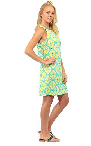 Women's Color Seaview High Court For Lime a Neck All Dress Rosita qPFwEtx