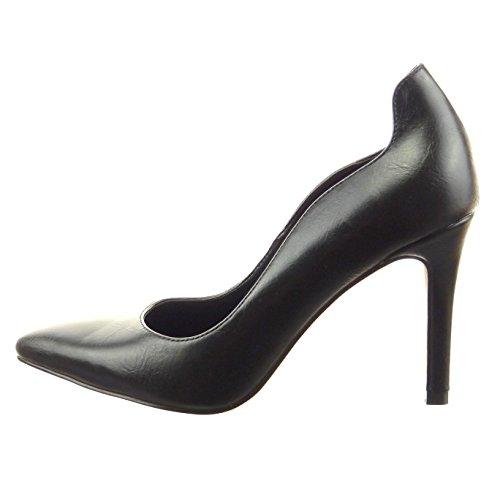 Sopily - damen Mode Schuhe Pumpe Dekollete Stiletto - Schwarz