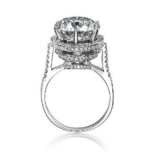 Naomi Brand Women Fashion Jewelry Big Stone 3ct Simulated Diamond Cz 925 Sterling Silver Engagement Wedding Band Rings for Women Sz 5-11 HR0146 White 10