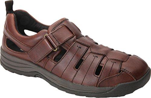 Drew Mens Shoe Mens Drew Dublin Leather Velcro Closed Toe Sport Sandals B01K27599M Shoes 26eaa7