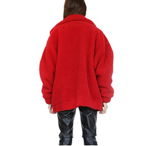 3XL Hibote Epais Chaud Artificielle Cardigan Longues Manches 700g Blouson Hiver Gilet Fourrure Veste Femme S Revers Manteau 4 Fille Zipp rpWpUP