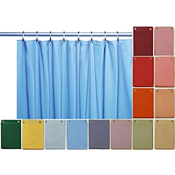 Elegant Home Heavy Duty Vinyl Shower Curtain Liner With 12 Metal Grommets  Sky Blue