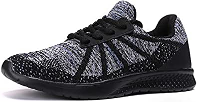 Kuzima Boys Casual Sports Shoes Multi Size: 3.5 Big Kid Black/Blue