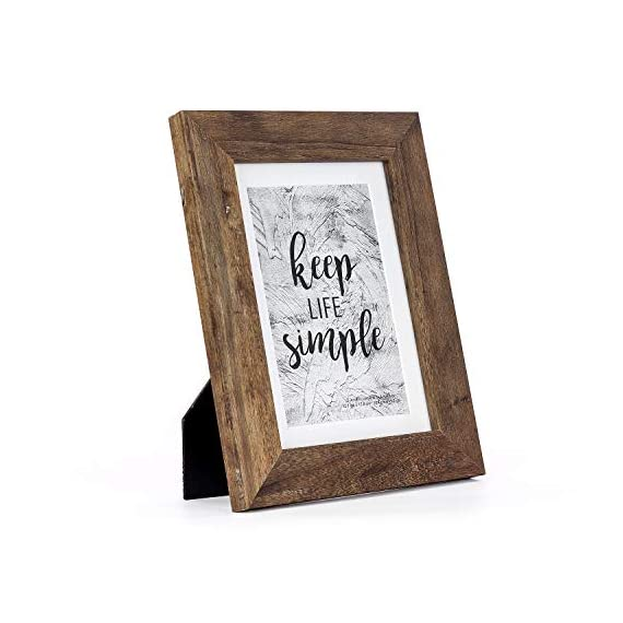 Home&Me Rotten White Picture Frame Wide Molding - Wall Mounting Material Included (5x7-1Pack, Rotten Brown) -  - picture-frames, bedroom-decor, bedroom - 41eU0TRj4LL. SS570  -