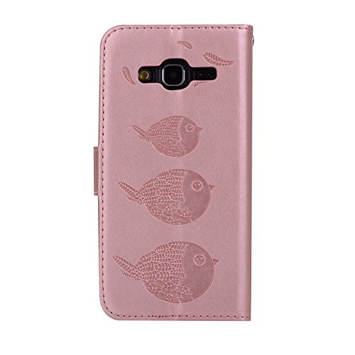 de avec support étui pour magnétique téléphone relief Galaxy protection fermeture carte 2016 Samsung cas SM avec Hozor gold PU de rose fente cuir motifs J310 Wallet exquis Flip J3 en wTR0xHp4n