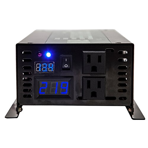 Reliable 800W LED Display Home Generator True Pure Sine Wave Solar Power Inverter Off Grid DC to AC 24V 120V Converter (Black) by WZRELB (Image #1)