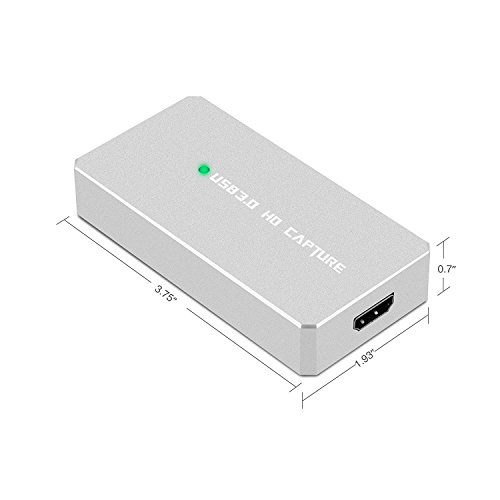 Y&H HDMI Game Capture Card USB 3.0 HD 1080P Video Capture with OBS for Live Video Streaming for PS3 PS4 Xbox One 360 Wii U,Compatible with Windows Linux Os X System【Metal Shell】 by Y&H (Image #2)