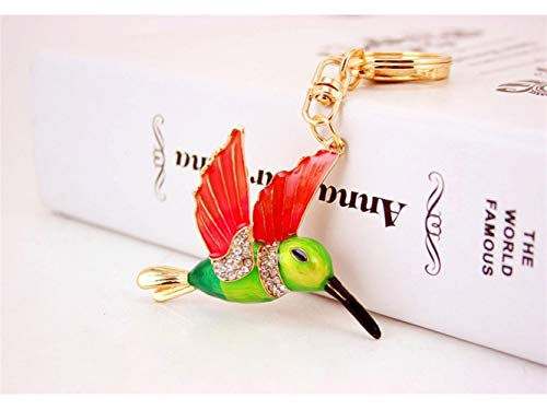 Car Keychain, Exquisite Kingfisher Bird Keychain Animal Key Trinket Car Bag Key Holder Decorations(Colorful) for Gift by Huasen