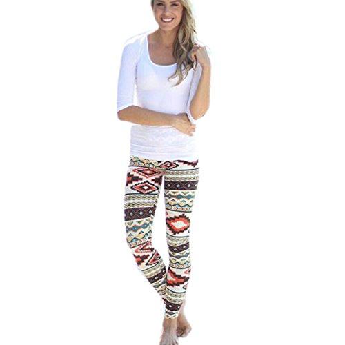 Lookatool Womens Geometric Stretchy Leggings