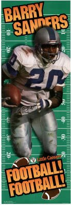 (24x60) Barry Sanders (Football! Football!, Door) Sports Poster Print