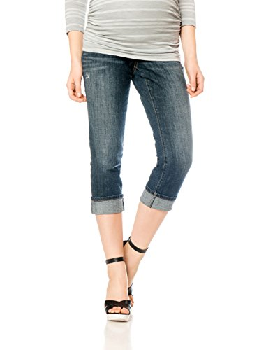 (Motherhood Indigo Blue Secret Fit Belly Straight Leg Maternity Crop Jeans)