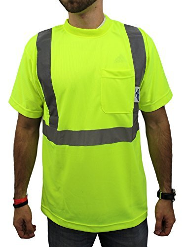 High Visibility Short Sleeve Safety Shirt Reflective NEW D01F07 YELLOW X-Large by TRUE by True