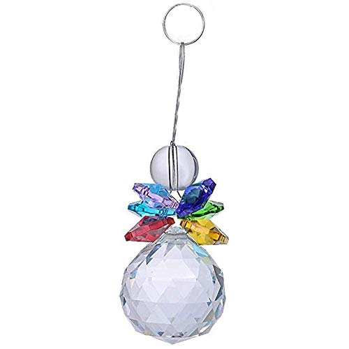 - Valentine's Day 30mm Crystal Ball Window Hanging Decoration Pink Ornament Rainbow HunYUN