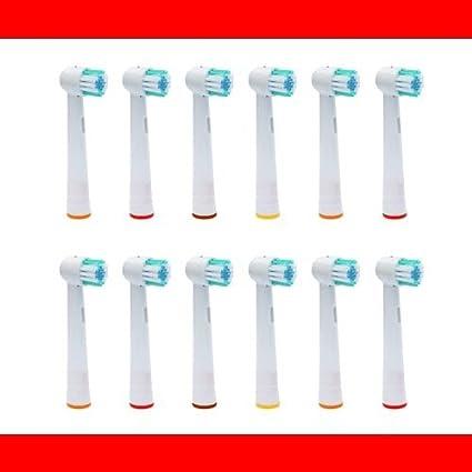12 Pieza - Recambio para Cepillo eléctrico Compatible y en forma Braun ORAL B/OralB