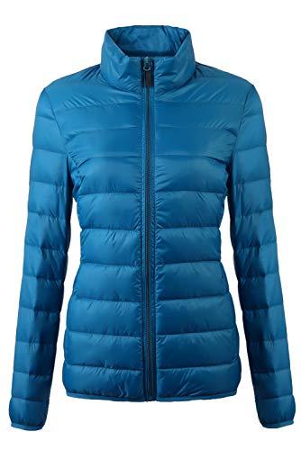 Fantiny Women's Ultra Light Weight Collar Down Jacket Packable Short Outwear Puffer Coats with Travel ()
