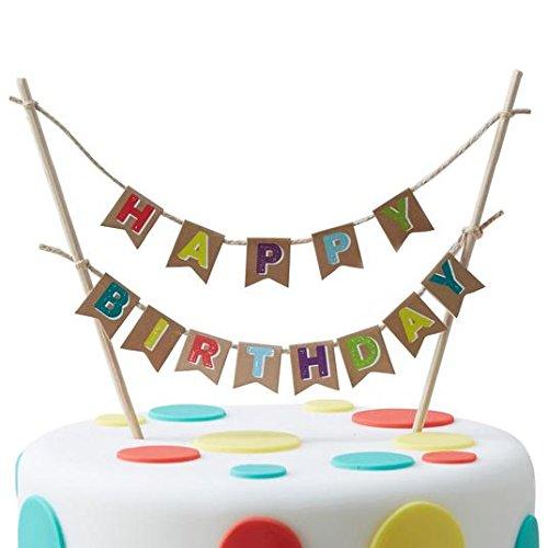 Ginger Ray Feliz cumpleaños banderines de decoración para ...