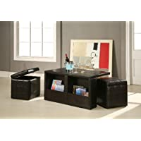 Williams Home Furnishing Coffee Table with Storage Stools