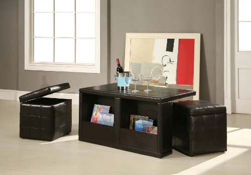 Exceptionnel Amazon.com: Williamu0027s Home Furnishing Coffee Table With Storage Stools:  Kitchen U0026 Dining