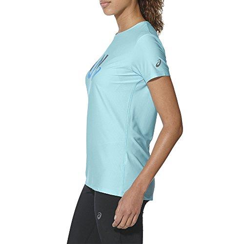 Asics Graphic Ss Camiseta de Manga Corta, Mujer azul (aqua splash)