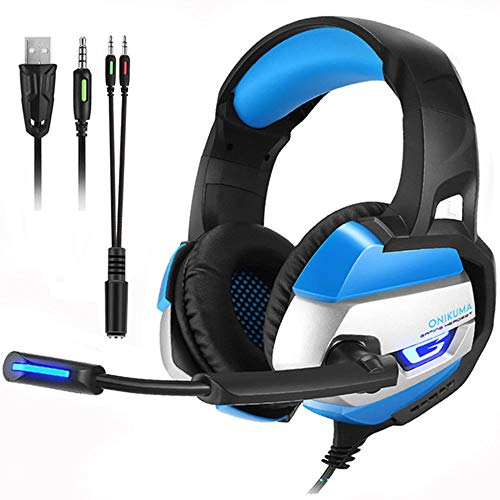 ILYO Gaming Headset, LED with Microphone Gaming Headphones Deep Bass Stereo Gaming Headset PC PS4 Notebook Xbox Notebook with Microphone MIC LED for Computer