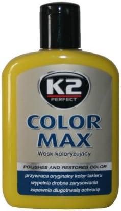 K2 Color Max Farbpolitur Autopolitur Wachspolitur Politur Mit Carnauba Wachs Gebindegröße 200 Ml Farbe Rot Auto