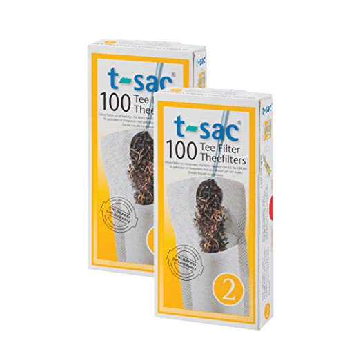 (T-Sac Tea Filter Bags, Disposable Tea Infuser, Number 2-Size, 2 to 4-Cup Capacity, Set of 200 )