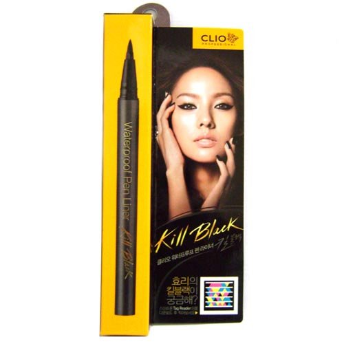Clio Waterproof Pen Liner, Kill Black/001, 0.018 Ounce