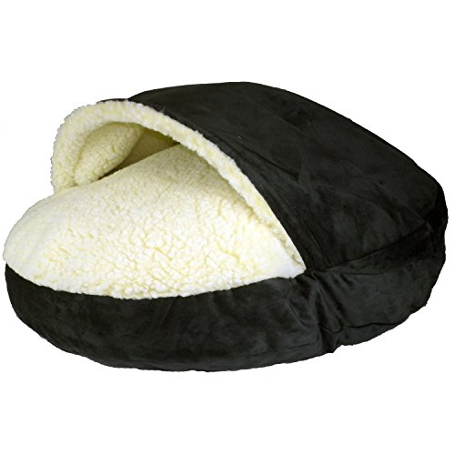 X Large Luxury Cozy Cave Pet Bed Black