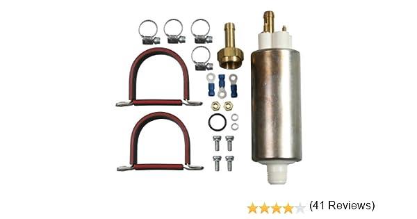 pompe /à essence haute pression externe universelle 255 LPH avec kit pour Walbro GSL392 Pompe /à essence haute pression