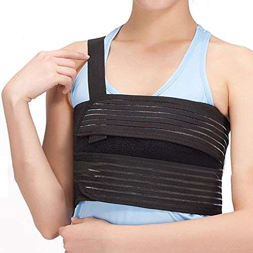 genmine Broken Rib Brace Universal Rib Belt Rib Injury Binder Belt Elastic Chest Wrap Support for Cracked, Fractured or Dislocated Ribs Protection, Compression and Support (Fits 40
