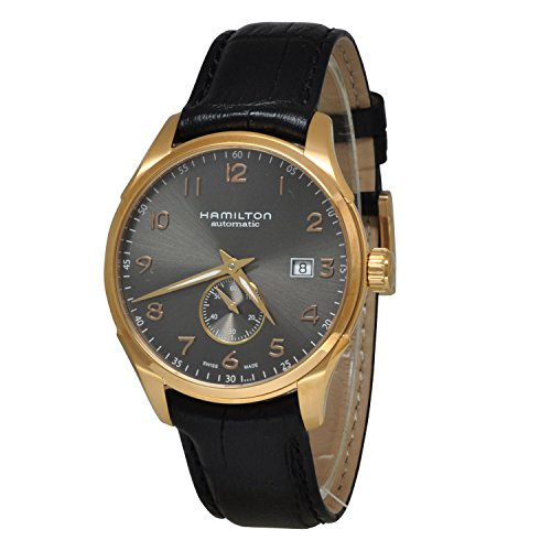 Hamilton Men's 'Jazzmaster' Swiss Automatic Gold and Black Leather Casual Watch (Model: H42575783) - 41eU66KvflL - Hamilton Men's 'Jazzmaster' Swiss Automatic Gold and Black Leather Casual Watch (Model: H42575783)