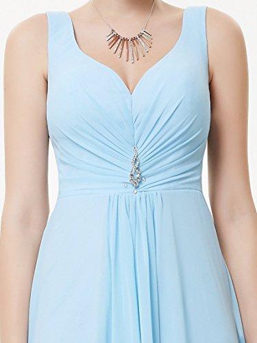 MDL Abendkleider V 09983 Ausschnitt Blau Chiffon Pretty Damen B Lange Ever Fqxa6Pzwa