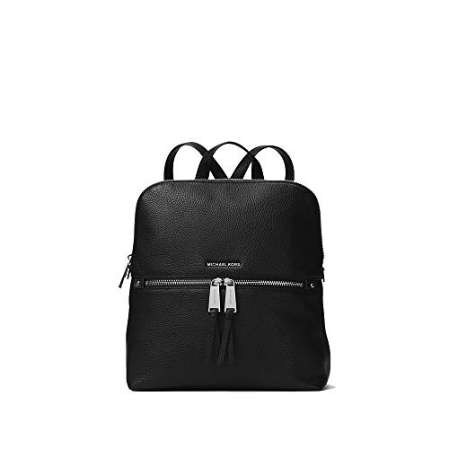 Michael Kors Rhea Medium Slim Backpack- Black