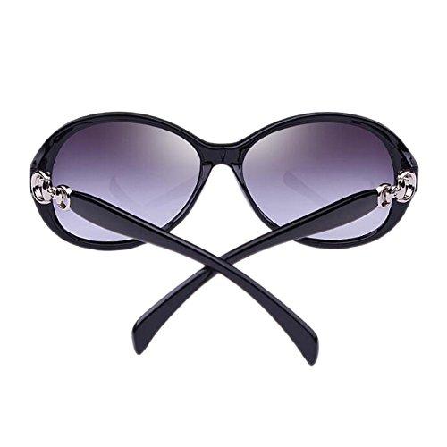 Harajuku anti extérieure visage classiques soleil des longue face HD de HLMMM soleil conduite rond des de Lunettes Vintage PC de UVB femmes résine UVA de Visual femmes style Noir en lunettes éblouissement wOnUF