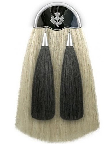 Brand New 100% Real Horse Hair Long Sporrans with Thistle Badge & Chain & Belt . by HOH