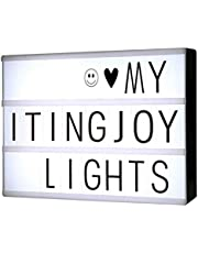 LED Light Box formato A4, ITingjoy LED Message Box con 90 lettere e simboli neri