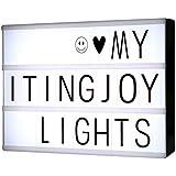LED Light Box formato A4, ITingjoy LED Message Box con 90 lettere e simboli neri