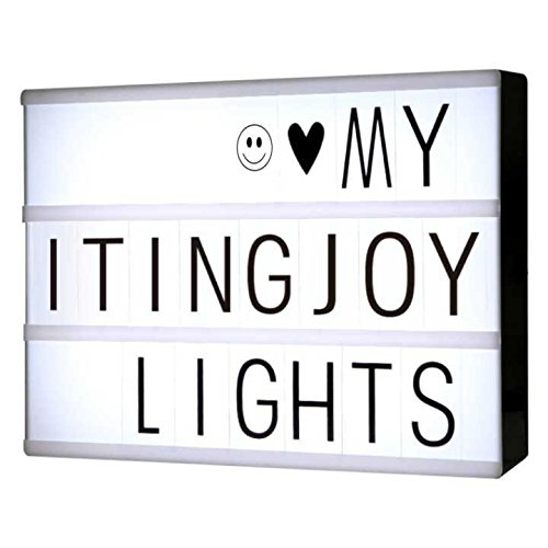 ITingjoy Free Combination Cinematic Light Box with Letters and LED Light A4 Size -