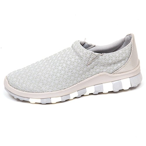 Uomo Ccilu Sneaker without On Grey Man Box E8032 Grigio Shoe Tissue rubber Slip qBBfwI