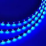 LEDwholesalers 16.4 Feet (5 Meter) Flexible LED Light Strip with 300xSMD3528 and Adhesive Back, 12 Volt, Blue, 2026BU