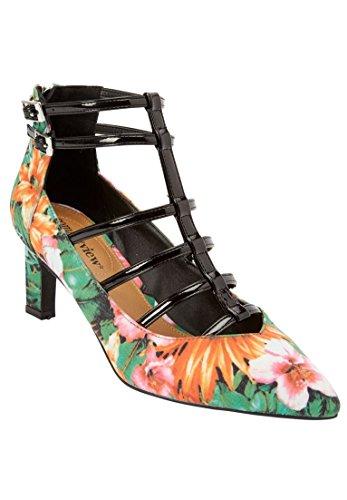Comfortview Womens Wide The Sima Pump Floral Multi bDO6zjnR