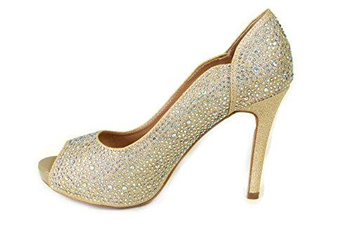 Vestir 828 Sintético Gold Sandalias De Para 7 Sko's Material Mujer fnHE8IZ