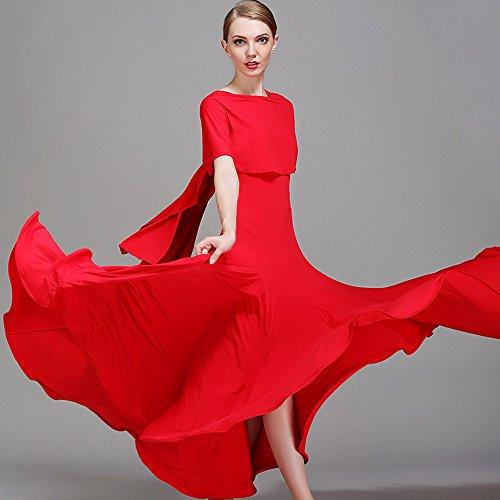 Señora Tango Bailando Manga De Danza Moderna Traje Y Gran Hielo Falda Vals Péndulo Red Hilo Vestido Corta Competencia Alambre Moderno Baile Xueyanwei AHvF5qnxww