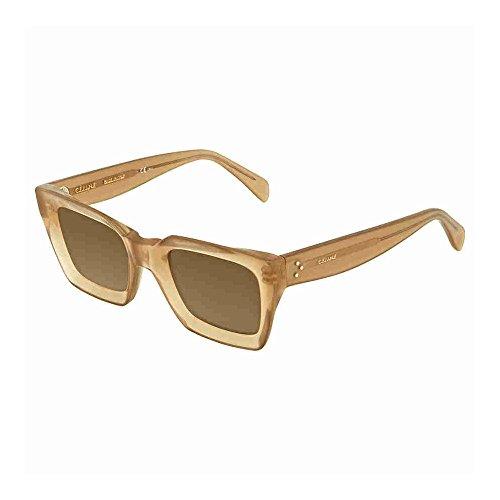 973abce092d Celine Plastic Square Sunglasses 50 010A Beige (70 brown lens) • Céline  Sunglasses
